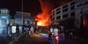السيطرة على حريق هائل إندلع في ثانوية للبنات بالمكلا