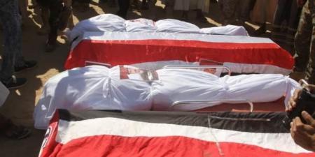 """مأرب تودع أربعة شهداء من قيادات وضباط الجيش الوطني """"أسماء"""""""