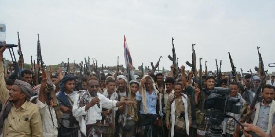 عقب وصوله لمديرية موزع.. وقفه قبلية مسلحة توجه عدة مطالب لطارق صالح