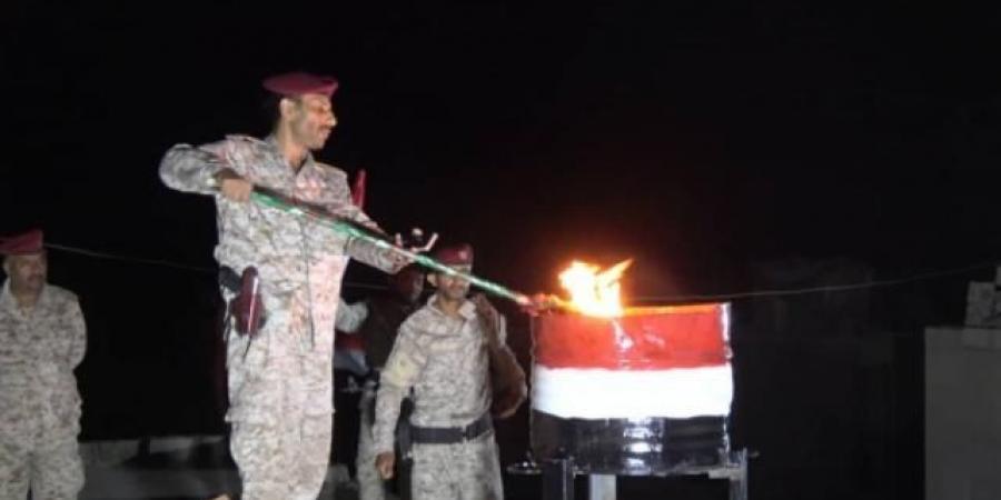 معسكر اللواء 21 ميكا بشبوة يحتفل بثورة 14 أكتوبر ويوقد الشعلة